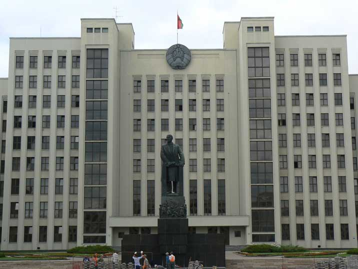 The Belarusian House of Government on Independence square Minsk