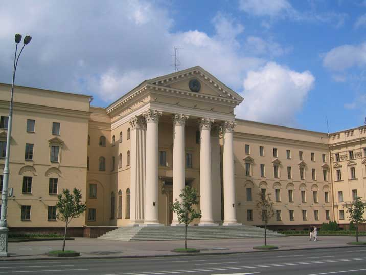 The headquarters of the Belarusian secret police still named KGB