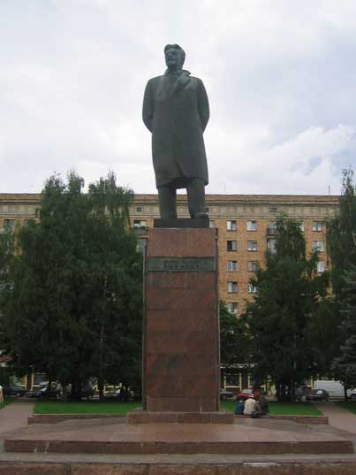 Statue of Bolshevik revolutionary Mikhail Kalinin in Minsk