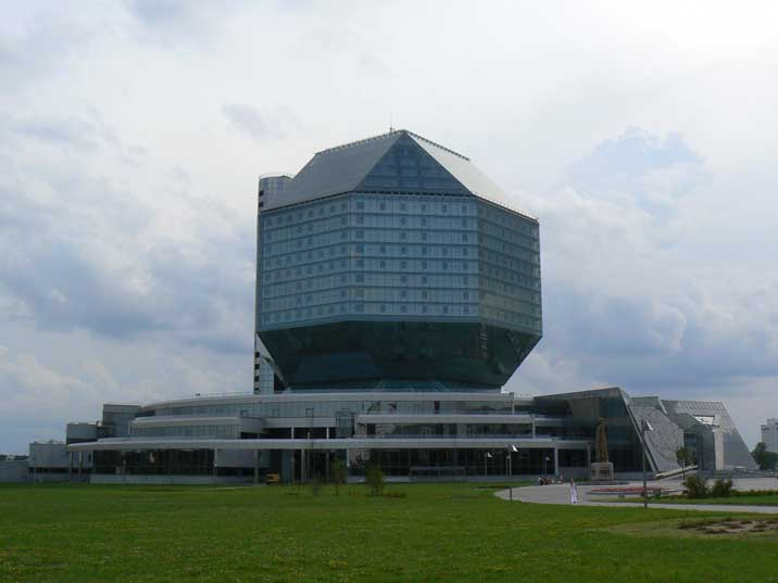 The modern National Library of Belarus completed in 2006