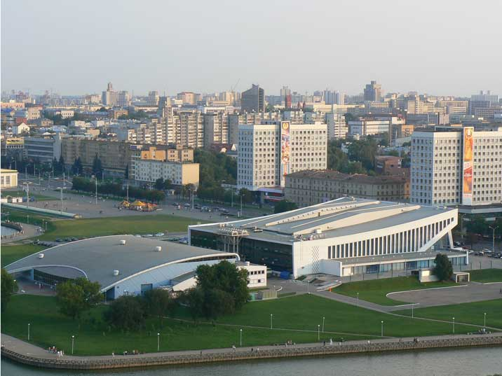 The Palace of sports build in 1966 and home of HC Dynamo Minsk