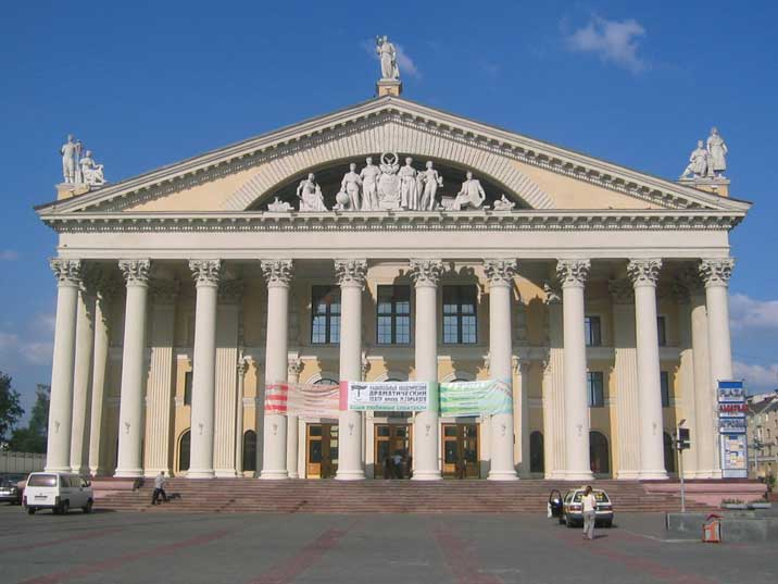 Neo classical Trade Unions Palace on October Square in Minsk