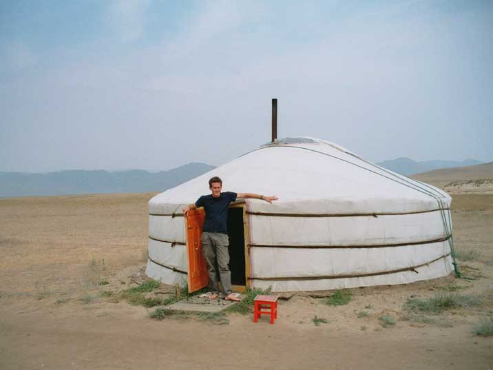 Our Ger where we stayed two nights in the Mongolian steppes