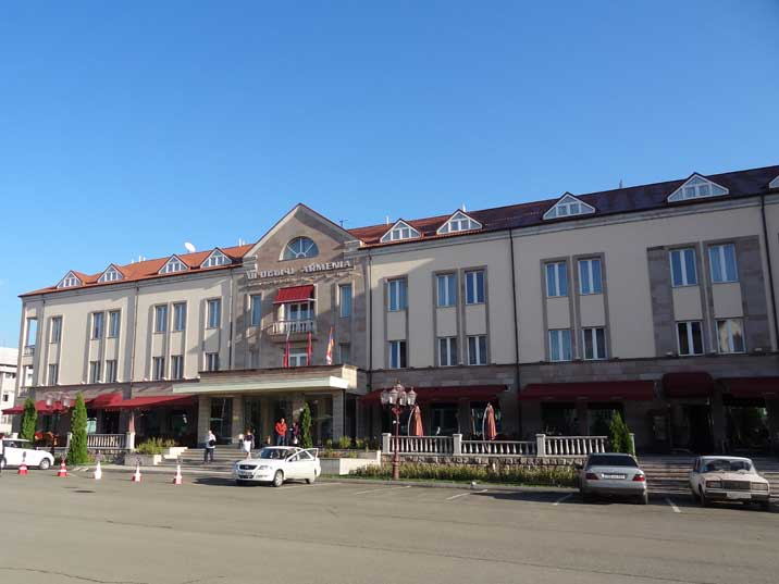 The Armenia Hotel located on Republic Square adjacent to the National Assembly of Nagorno-Karabakh