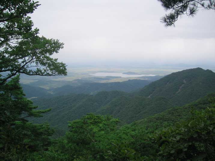 View on the Jol Valley from the Sahwang Peak of Mount Kuwol