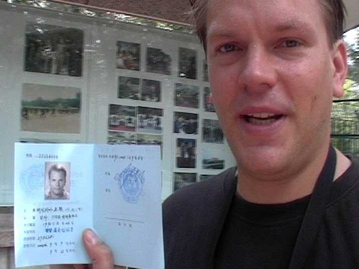 North Korea visa as a separate document to avoid future problems