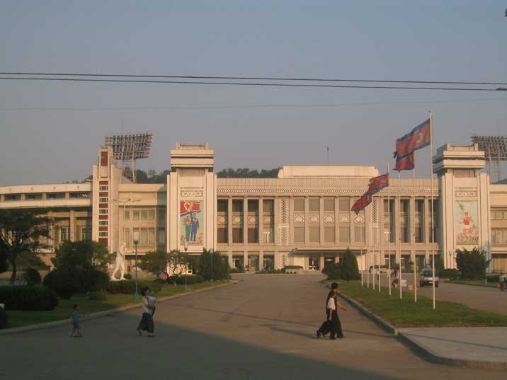 Pyongyang Kim Il Sung Stadium with a capacity of 90.000 spectators