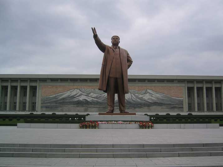 Mansudae Grand Monument Bronze statue of Kim Il Sung from 1972