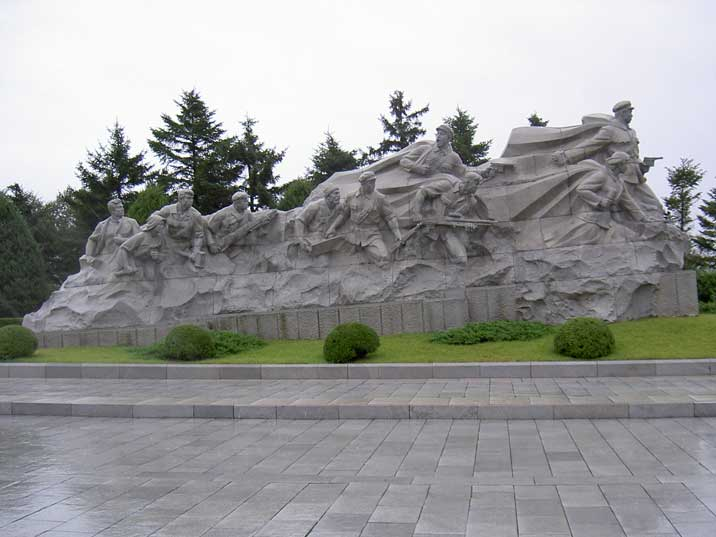Socialist sculpture at Revolutionary Martyr's Cemetery Pyongyang
