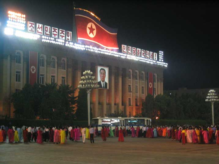 Communist Party headquarters on Kim Il Sung Square in Pyongyang