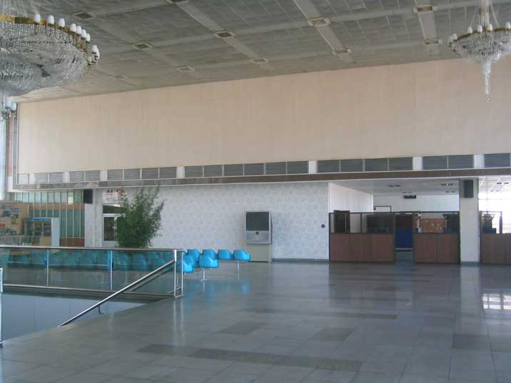 Passenger Lounche of Susan International Airport in Pyongyang