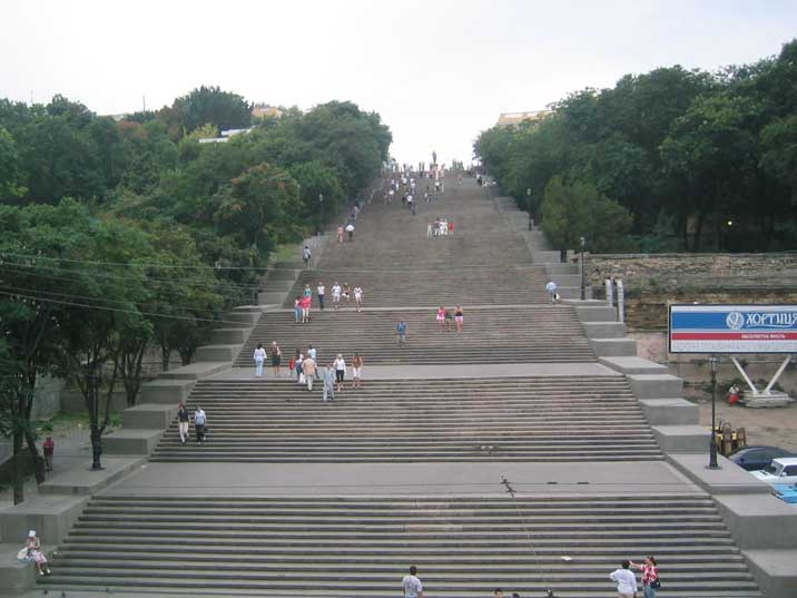The Potemkin stairs, Odessa and the Ukraine's most famous landmark