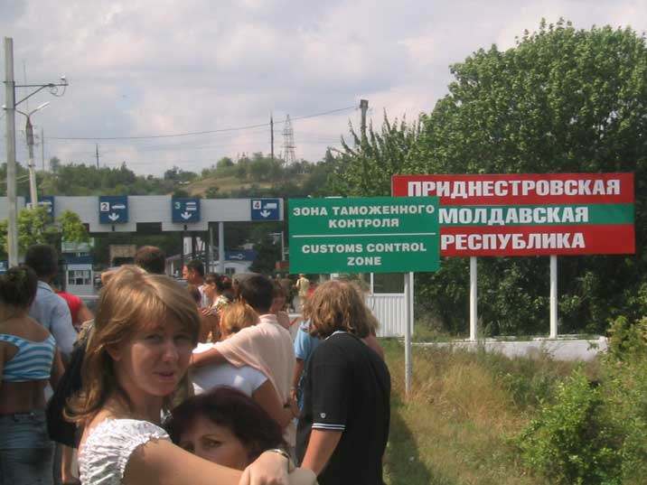 Queue for the Transnistria border where we were not let in