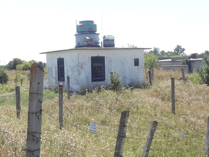 Guard house with machinegun turret inside the high security zone of the missile base