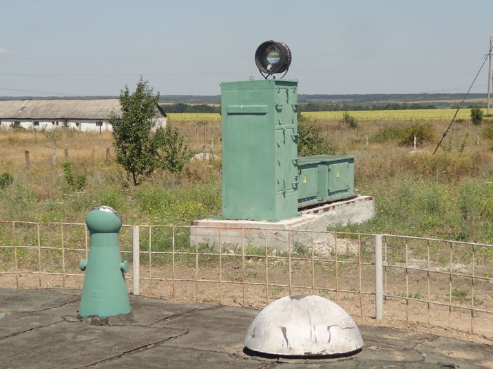 Searchlight near the command center cover, likely only used during emergency situations