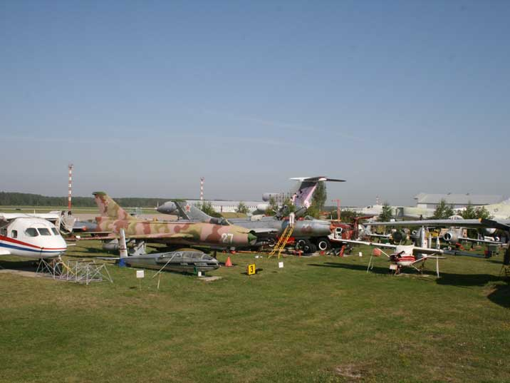 Soviet aircraft on the main field of the Riga Aviation museum