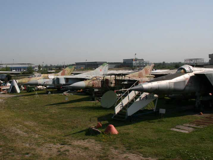 Famous Soviet jet fighters displayed at the Riga Aviation museum