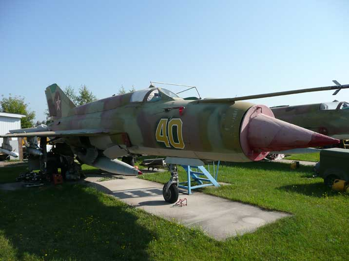 Another MiG-21BIS powered by a Tumansky R-25-300 turbojet engine