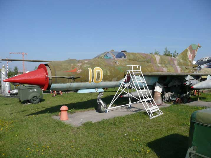 A Mikoyan Gurevich MiG-21SMT Fishbed in good condition