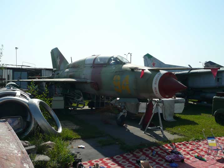 The MiG-21UM is a two seat trainer version of the MiG 21 series