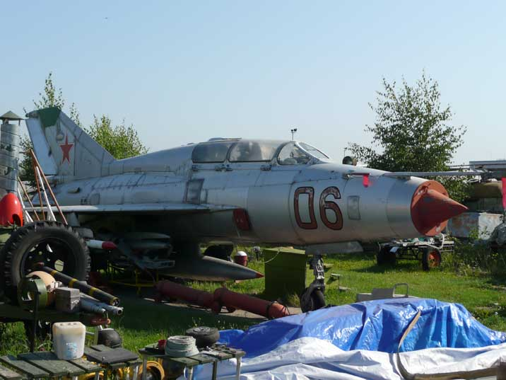 MiG-21US two seat trainer produced in Tbilisi during the 1960s