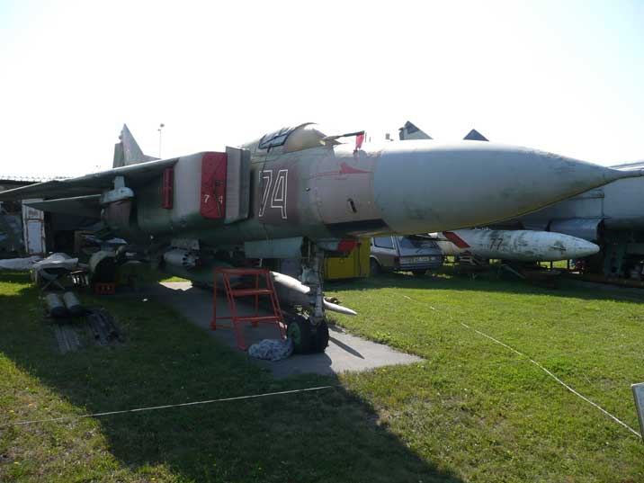 A MiG-23M, the first mass produced MiG-23 of which 1300 were made