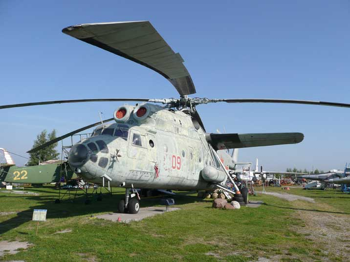 The Mil Mi-6 Hook heavy transport helicopter first flown in 1957
