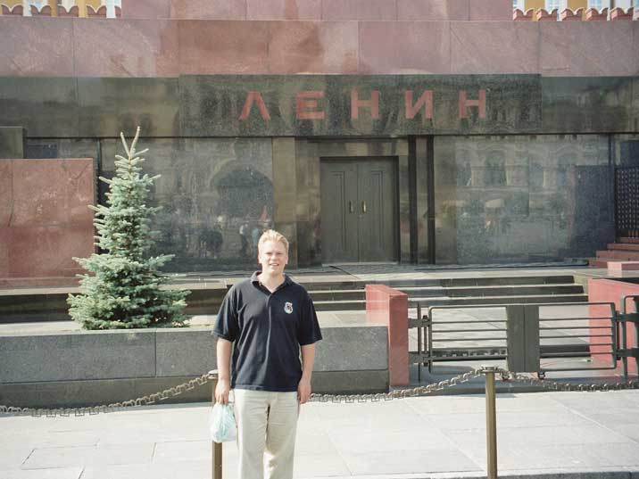 Lenin's mausoleum is the main tourist attraction On Red Square