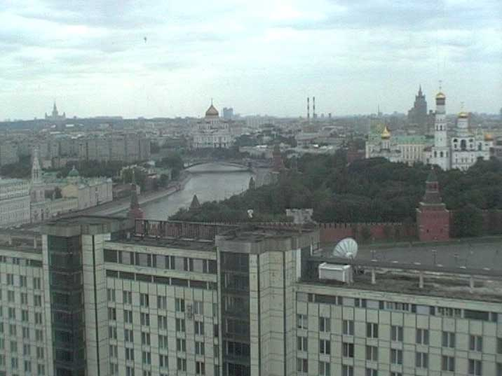 Red Square, Kremlin and Moskva River seen from Hotel Russia