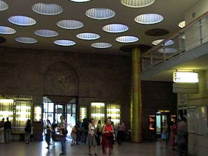 Trains to Moscow run from St. Petersburg's Moskovsky Rail Terminal