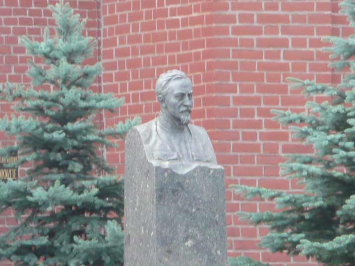 The tomb of KGB founder Felix Dzerzhinsky at the Kremlin wall