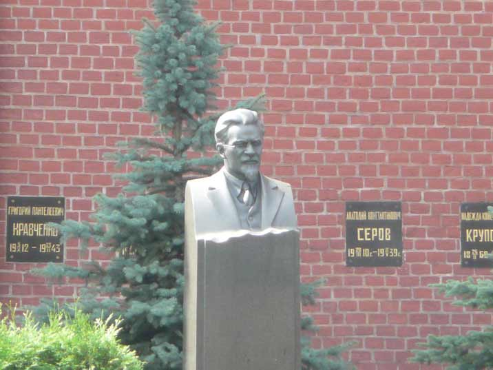 The tomb of Soviet statesmen Mikhail Kalinin at the Kremlin wall