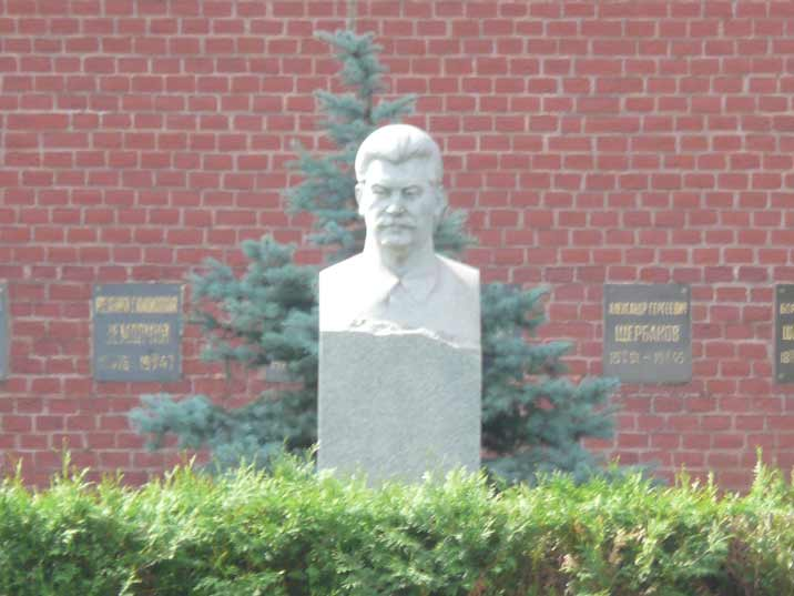 The tomb of Soviet dictator Joseph Stalin at the Kremlin wall