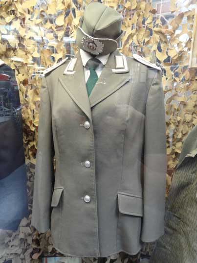 Tunic for a female Master Sergeant of the East German Army, possibly from the Military Band indicated by the White Corps Colors