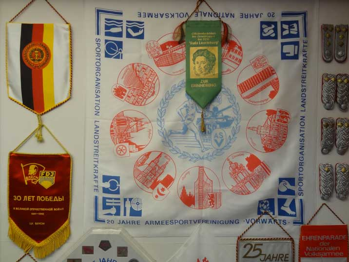 Memorial cloth celebrating the 20th anniversary of the East German Army Sports Association