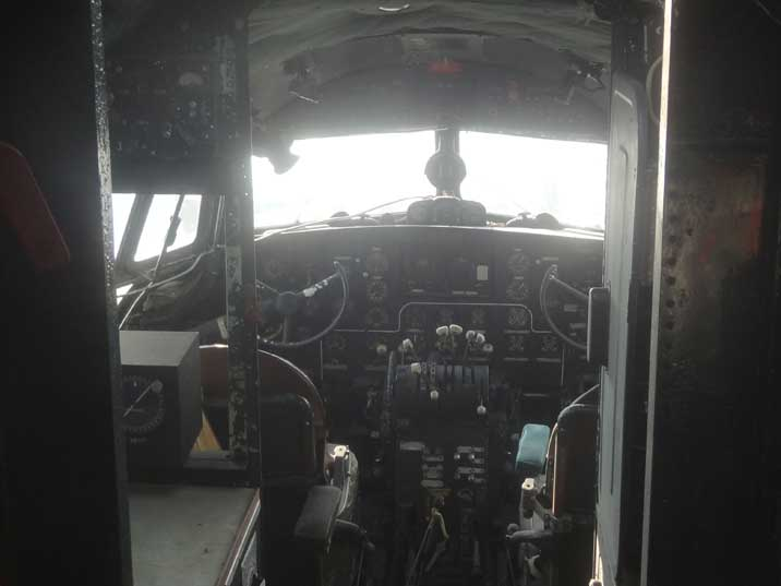 The Cockpit of the Ilyushin Il-14P that was developed to replace the Lisunov Li-2 and DC-3