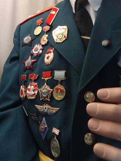 Soviet medals including the Order of the Patriotic War, the Order of the Red Star and the Medal for participation in the War in Afghanistan