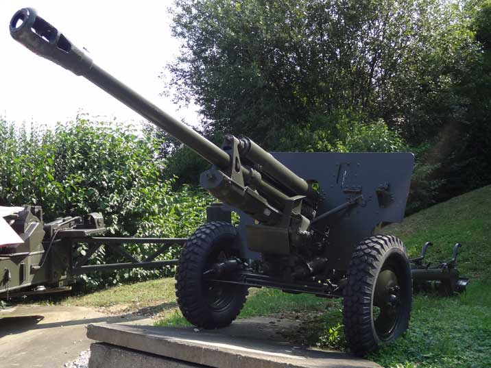 Much produced Soviet ZiS-3 gun, captured by the Germans but never employed due to the unusual caliber