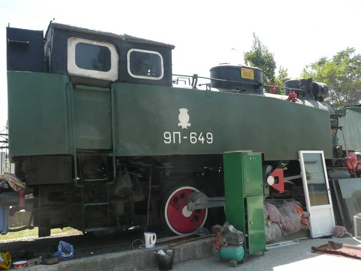 This 9P class steam locomotive known as the Petushok (cockerel), was build in Kolomna in 1932 and used for industrial purpose