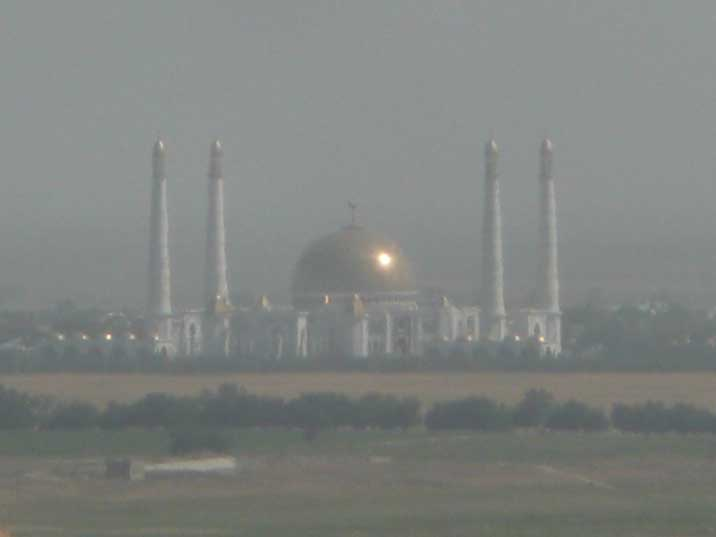 Turkmenbasy Ruhy Mosque build where Turkmenbasy mother died