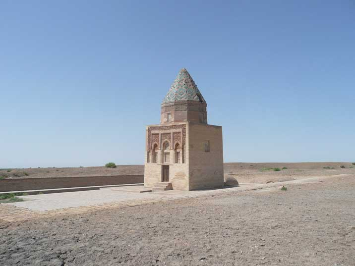 The ancient Kho-rezmshah II Arslan mausoleum in Konye Urgench