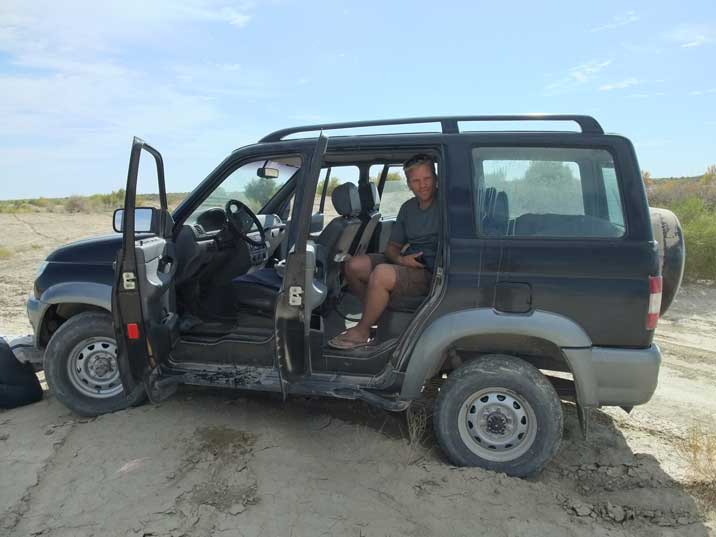 Our Aral Sea car was a Simbir, the newest UAZ 4WD model