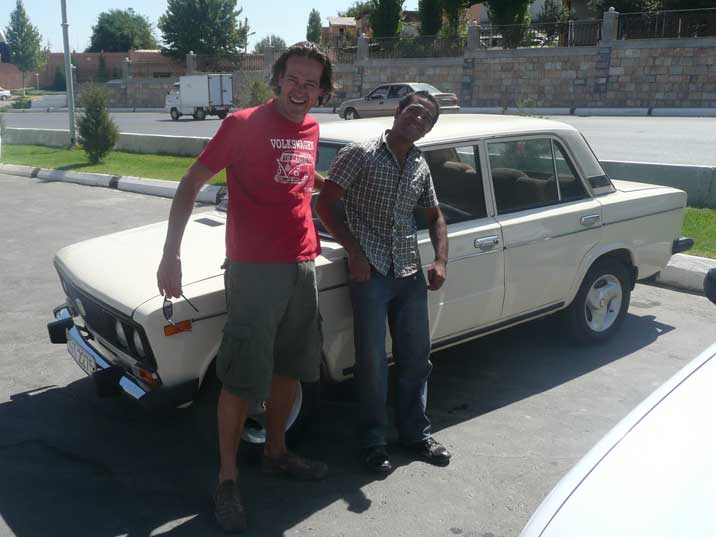 Our friend Otabek showed us Samarkand in his old VAZ-2106