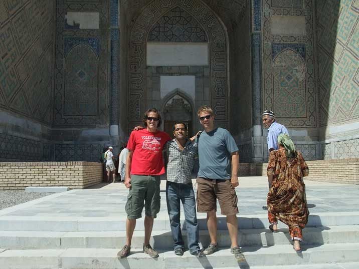 The Comtourist team in Samarkand with our local friend Otakabek