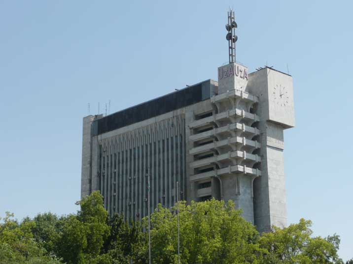 The Orwellian style Uzbek News Agency building in Tashkent