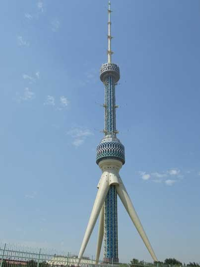 Tashkent's impressive 375 meter tall TV Tower build in 1985