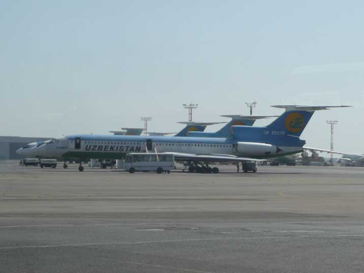 Our Uzbekistan Airways Tupolev 154B from Tashkent to Urgench