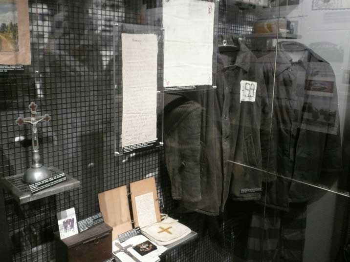 Clothes Lithuanian prisoners wore in the Siberian Gulag