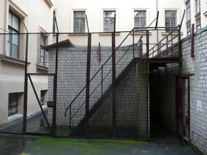Prison courtyard where prisoners could get some fresh air