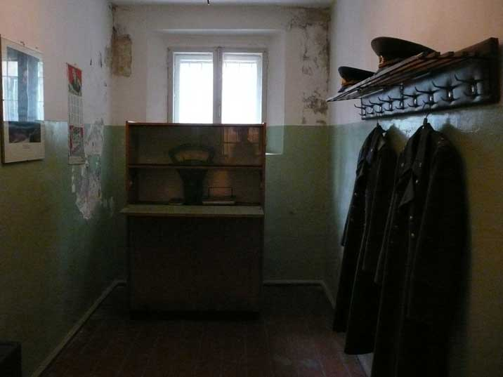 Room for the KGB prison guards on duty with guard uniforms